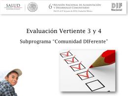 Evaluación de Vertiente 3 y 4