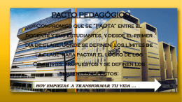 PACTO PEDAGOGICO SEM 2 DEL 2015
