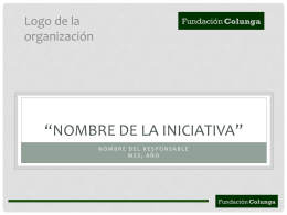 Nombre de la Iniciativa