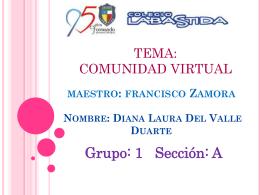 Nombre: Diana Laura Del Valle Duarte