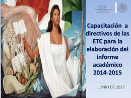 Capacitación Informe Académico