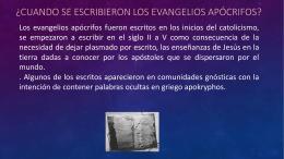 ¿Cuando se escribieron los Evangelios Apócrifos?