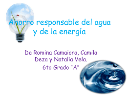 Ahorro responsable del agua y de la energía - English-6th