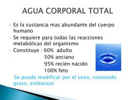 AGUA CORPORAL TOTAL - Eco Salud Estudiantes XDDD