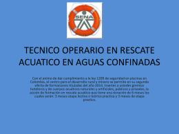 tecnico operario en rescate acuatico en aguas confinadas 2014