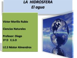 LA HIDROSFERA El agua