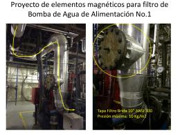 Proyecto de elementos magnéticos para filtro de Bomba de Agua de