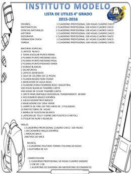CUARTO GRADO - Universidad Modelo