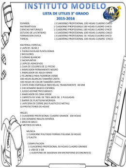 TERCER GRADO - Universidad Modelo