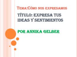 Los sentimientos Por Annika Gelber