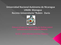 Procesos y etapas de organización del Archivo Central Administrativo