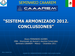 CONCLUSIONES 2012
