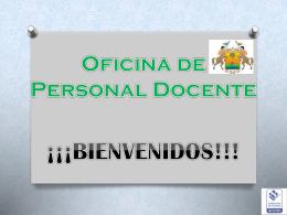 Presentación Personal Docente - Secretaria de educación del Meta