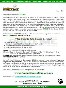 Información de Enero 2014 - Fundacion Pro-FIME