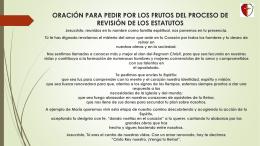 Oracion para pedir por el proceso de revision