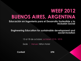 weef 2012 buenos aires, argentina