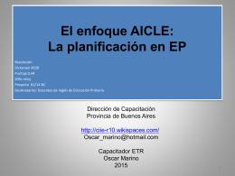 El enfoque AICLE - CIIE-R10