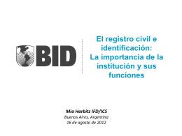 del Registro Civil - Tribunal Electoral