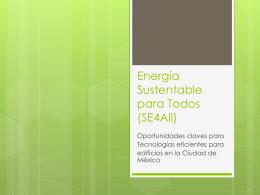 Energía Sustentable para Todos (SE4All)
