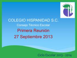 Ciclo Escolar 2013 - 2014