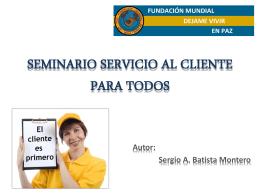 SEMINARIO SERVICIO AL CLIENTE PARA TODOS