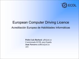 Presentación ECDL