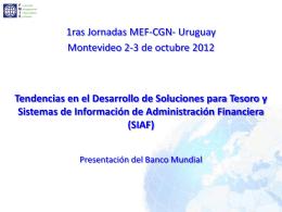 Exposición del Banco Mundial. Sr. Alejandro Solanot