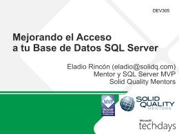 Mejorando el Acceso a tu Base de Datos SQL Server