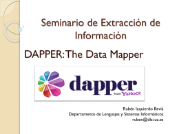 Presentación DAPPER: The Data Mapper