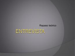 Teoría ENTREVISTA