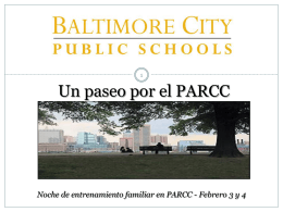 PARCC - Baltimore City Public Schools
