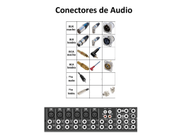 Conectores de Audio
