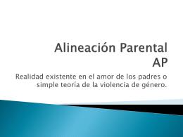 Alineación Parental - Centro de Capacitación y Actualización del