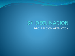 3ª DECLINACION - proyectoedipo