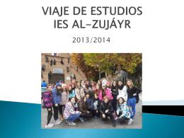 VIAJE DE ESTUDIOS AL-ZUJÁYR 2012/2013 - IES Al