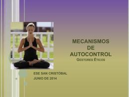 MECANISMOS DE AUTOCONTROL