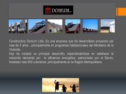 NUESTRA EMPRESA SOLAR HEATING CHILE S.A.