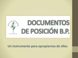 DOCUMENTOS DE POSICIÓN