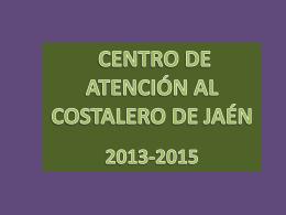 centro de atención al costalero de jaén 2013-2015