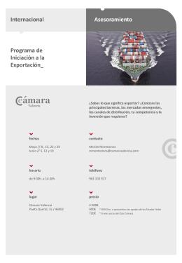 programa de iniciación a la exportación
