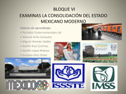 BLOQUE VI MEXICO MODERNO HM - Over-blog