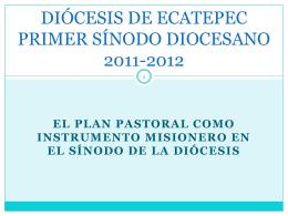 Plan de Pastoral Diocesano - Parroquia del Espíritu Santo y Santa