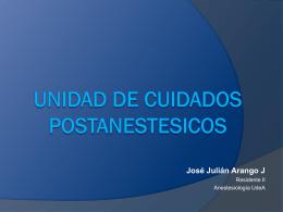 UNIDAD DE CUIDADOS POSTANESTÉSICOS