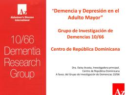 Demencia y depresión en el adulto mayor
