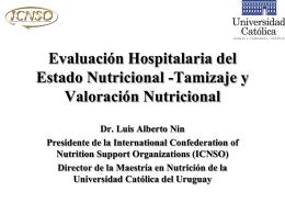 Evaluación Hospitalaria del Estado Nutricional