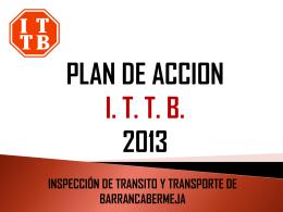 Plan de Accion 2013 - Inspección de tránsito y transporte de