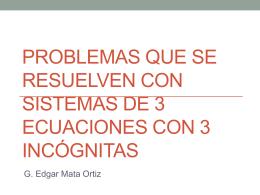 Problemas de 3 incógnitas
