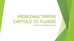 PROBLEMAS TIPPENS CAPÍTULO 15: FLUIDOS