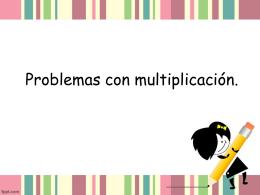 Problemas con multiplicación
