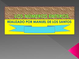 LOS NÚMEROS ENTEROS, Manuel